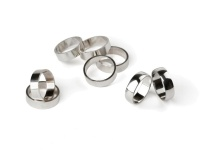 Tubes Cut rings jewelry silver